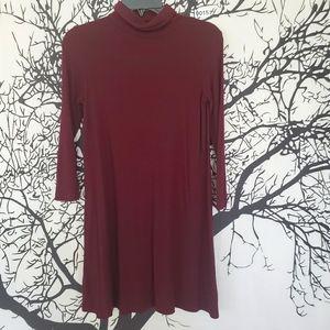 AMERICAN EAGLE Turtleneck Dress Long Sleeve Mini S